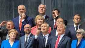 Trump, Sánchez y el resto de líderes de la OTAN posan para la foto de familia