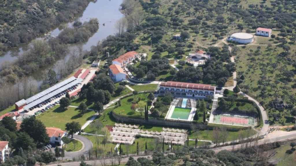 Imagen aérea del balneario de Ledesma, en la provincia de Salamanca.