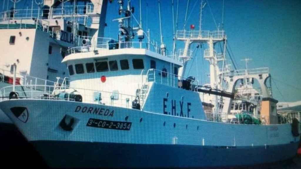 Imagen del barco Dorneda, que ha naufragado en la costa de Argentina.