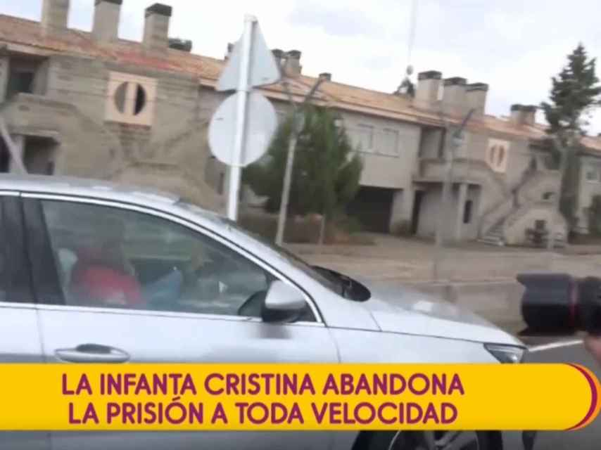 Captura del momento en el que Cristina acude a la cárcel de Brieva.