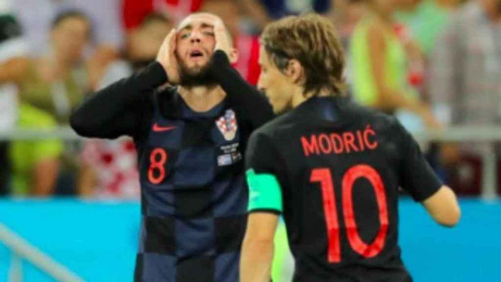 Kovacic y Modric con Croacia. Foto Instagram (@lukamodric10)
