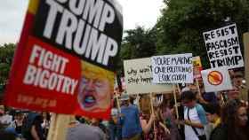 Protestas por la llegada de Trump a Reino Unido.