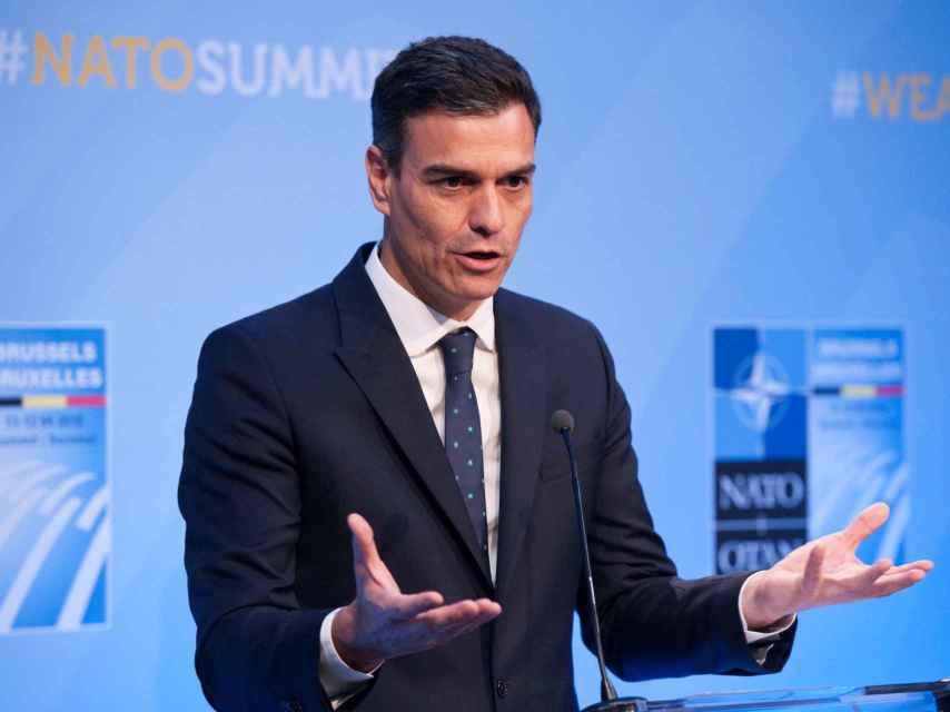 El presidente del Gobierno, en la rueda de prensa de la OTAN
