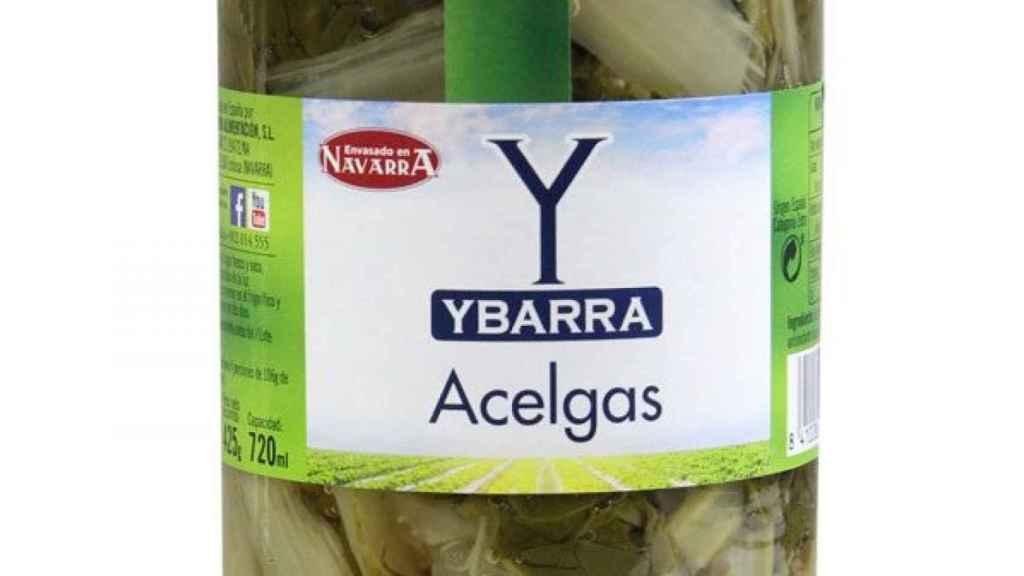 Un bote de acelgas Ybarra.