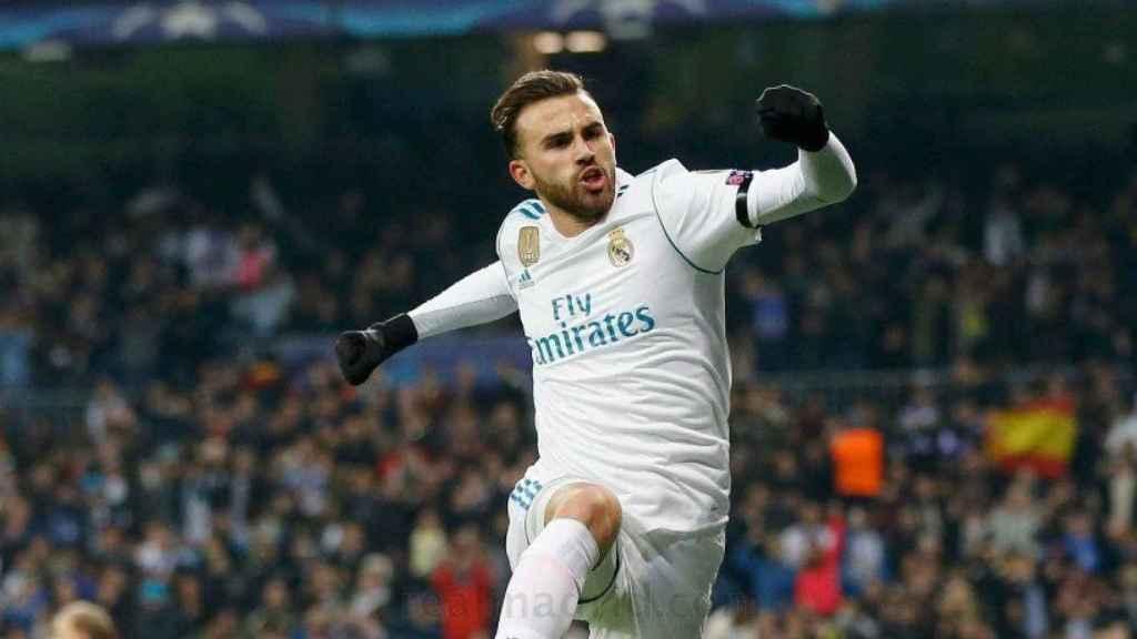 Borja Mayoral celebra su gol al Dortmund