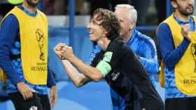 Modric celebra su gol contra Argentina. Foto: Twitter (@HNS_CFF)