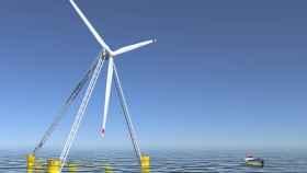 Recreación de los aerogeneradores de X1 Wind.
