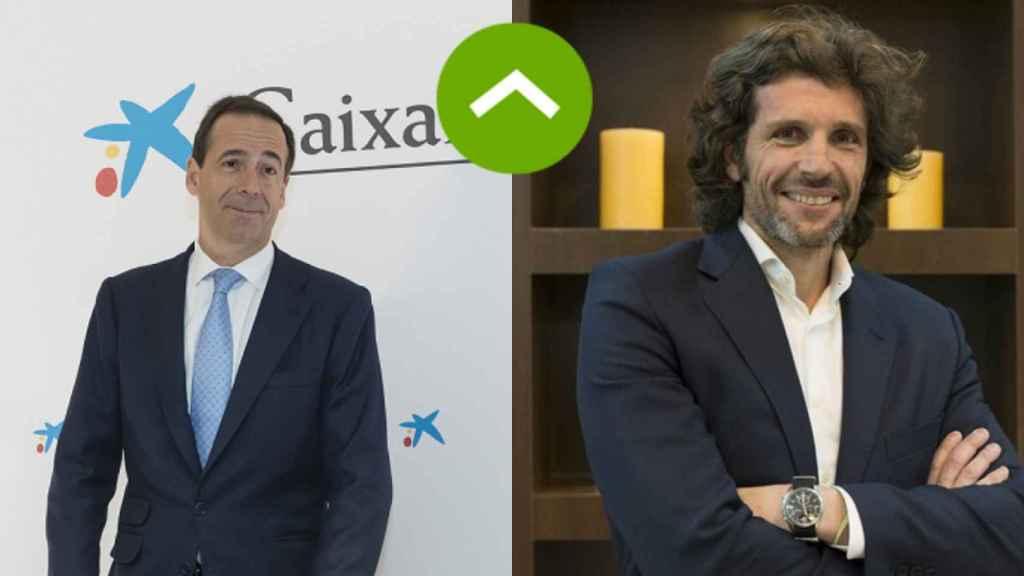 COMO LEONES: Gonzalo Gortázar (Caixabank) y Pedro Serrahima (Telefónica)
