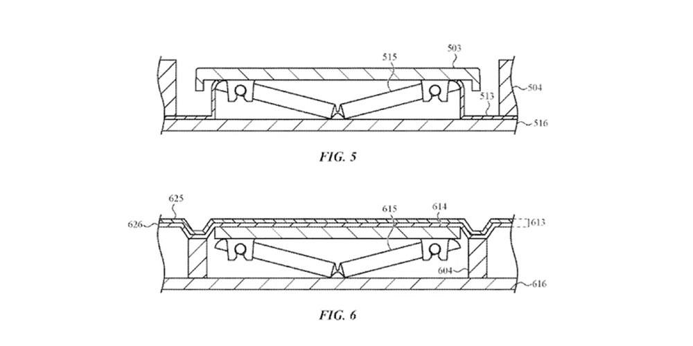 patente apple membrana de silicona mecanismo de mariposa teclado macbook pro