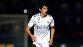 Vallejo, en un partido del Real Madrid