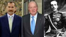 Felipe VI, Juan Carlos y Alfonso XIII.