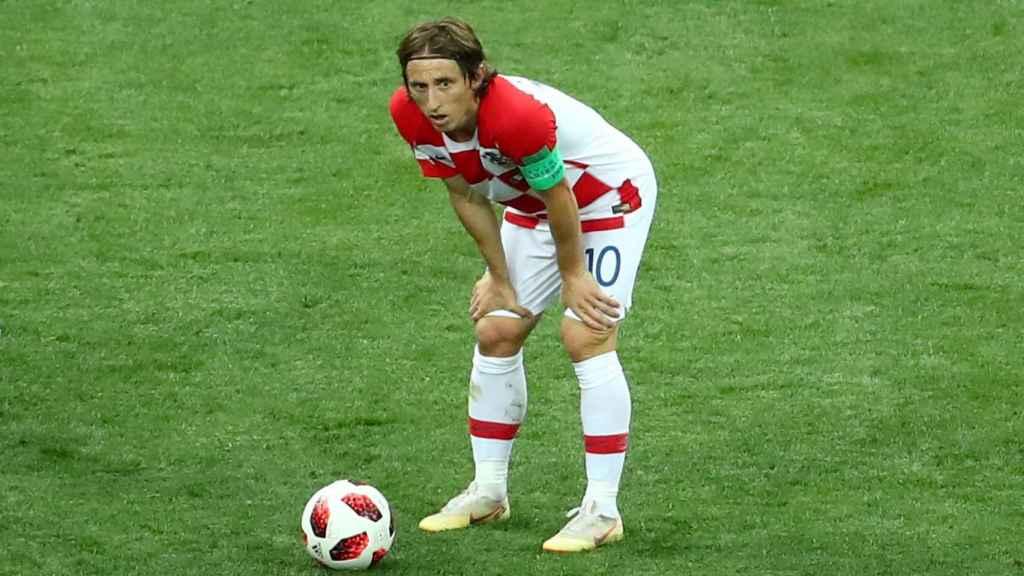 Luka Modric, en la final del Mundial.