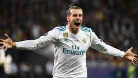 Gareth Bale celebrando su gol al Liverpool. Foto: Twitter (@ChampionsLeague)