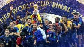 Francia celebra la conquista del Mundial de Rusia. Foto Twitter (@equipedefrance)