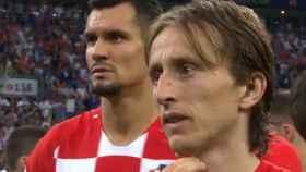 Modric tras la final del Mundial de Rusia