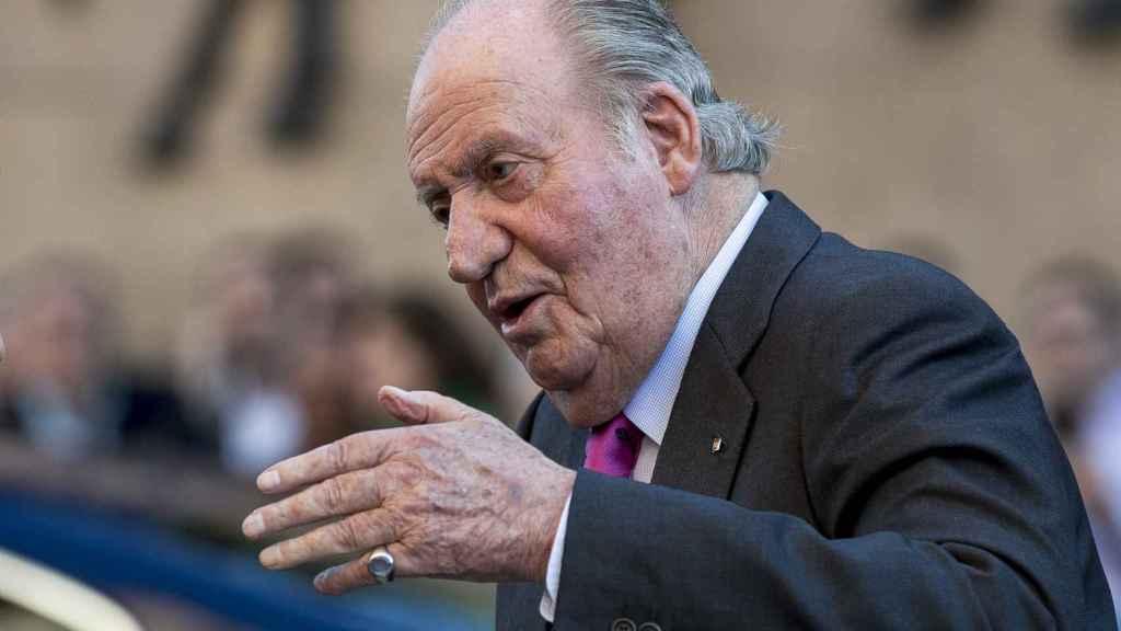 Juan Carlos I en la feria de San Isidro (Madrid).