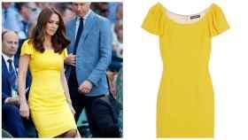 Kate Middleton junto al vestido de Dolce & Gabanna en un montaje.