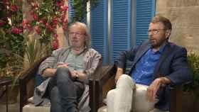 Benny y Bjorn durante la entrevista.