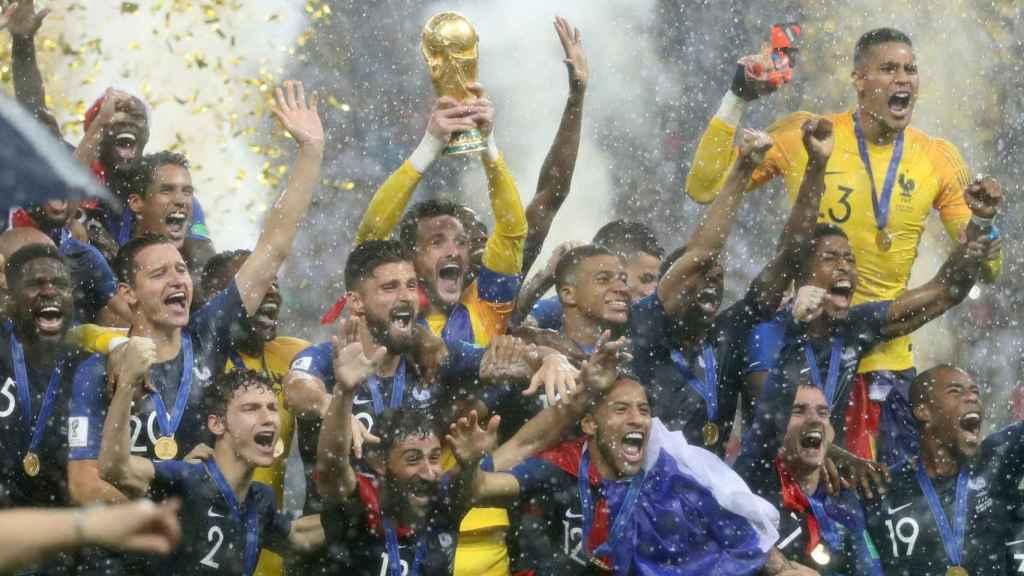 La celebración de Francia, campeona del mundo 2018.