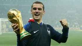 Griezmann celebra el Mundial logrado con Francia. Foto Twitter (@equipedefrance)