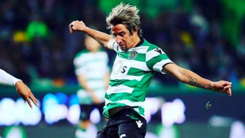 Coentrao, con el Sporting. Foto Instagram (@sportingclubdeportugal)