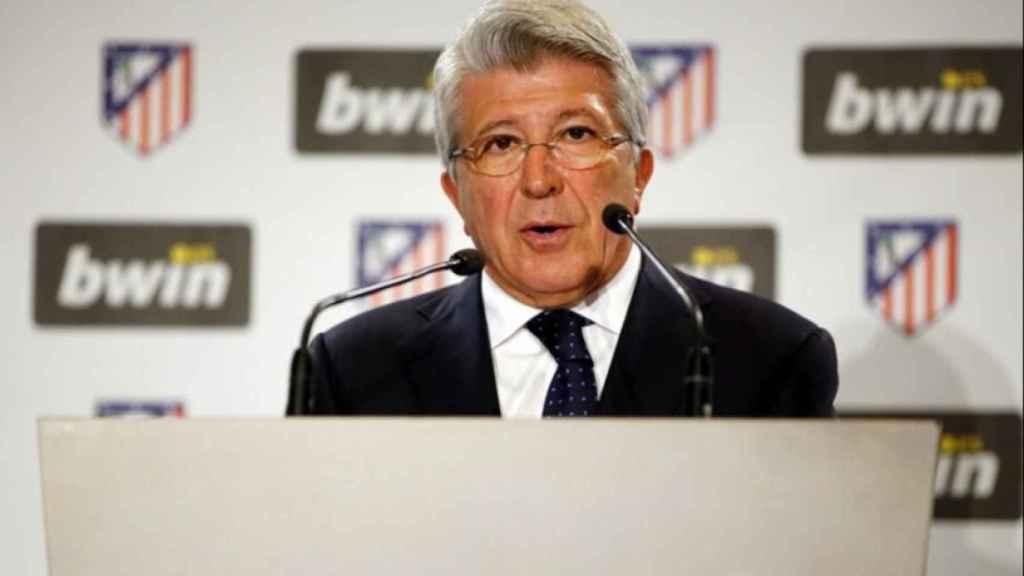 Cerezo, presidente del Atlético. Foto: atleticodemadrid.com
