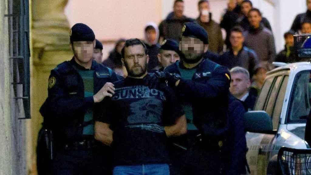 Norbert Feher al llegar al juzgado de Alcañiz el 17 de diciembre de 2017.