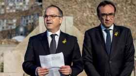 Los exconsellers Jordi Turull y Josep Rull.