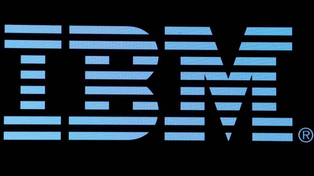 Logo de IBM en una imagen de archivo.
