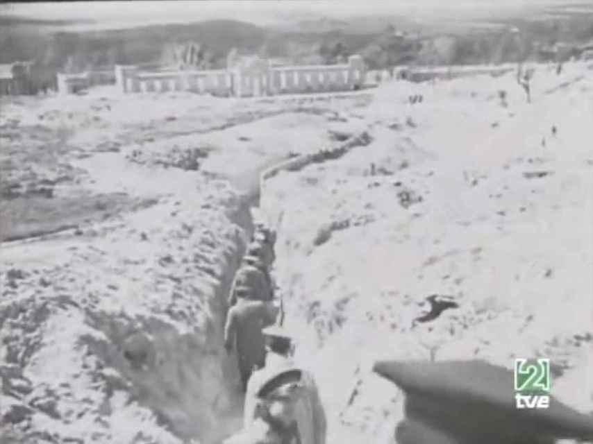 Imagen de la trinchera franquista del Hospital Clínico hallada.