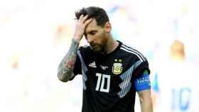 Messi se lamenta con Argentina. Foto fifa.com