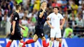 Perisic, goleador ante Inglaterra. Foto: Twitter (@HNS_CFF)