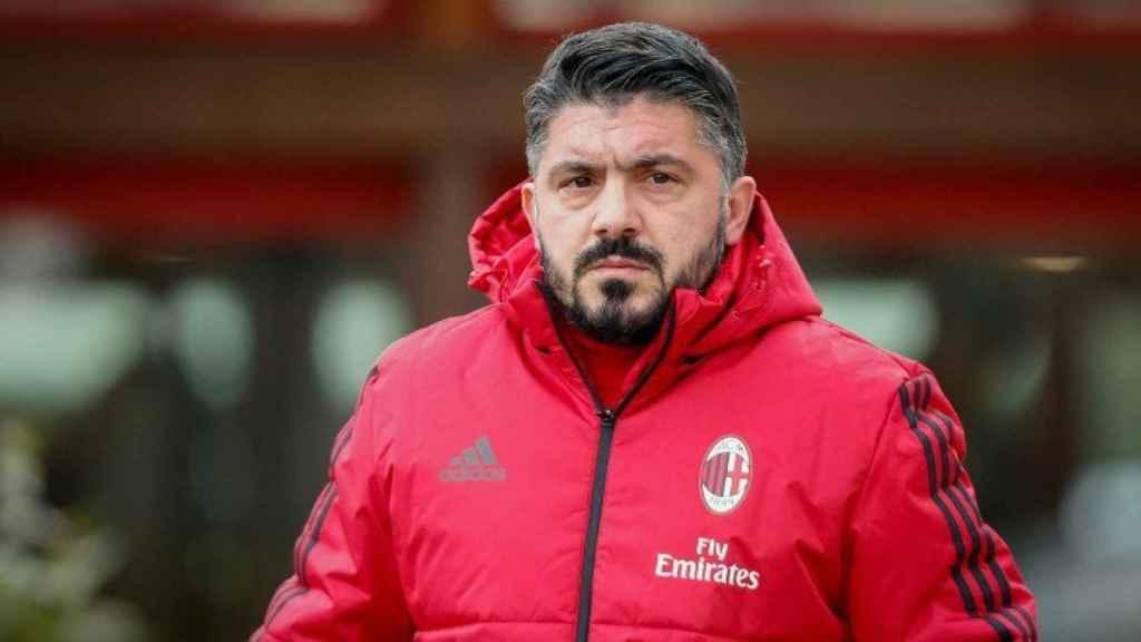 Gattuso entrenando al Milan. Foto acmilan.com