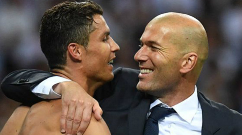 Zidane y Cristiano celebran la Champions