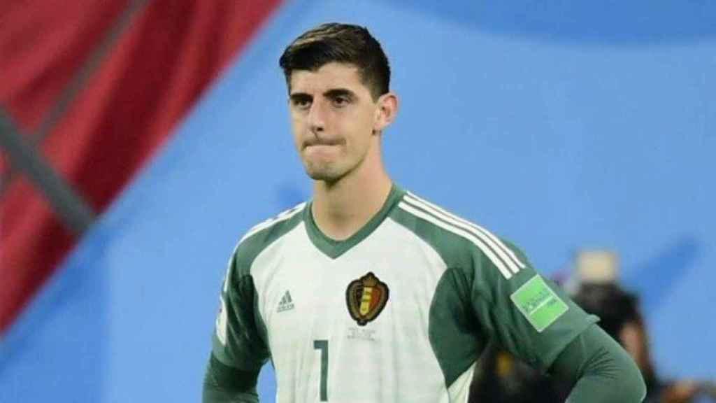 Courtois, con la selección de Bélgica. Foto Twitter (@thibautcourtois)