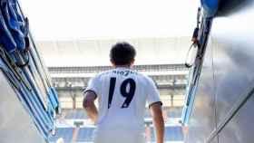 Odriozola, en su presentación con el Real Madrid