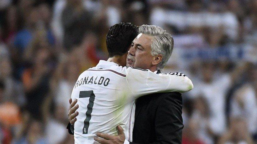 Cristiano Ronaldo y Ancelotti