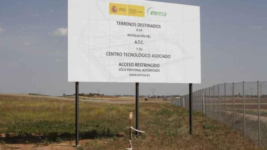 Imagen de los terrenos donde está previsto que se construya el almacén.