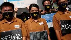 Protestas en contra de presos políticos en Hong Kong