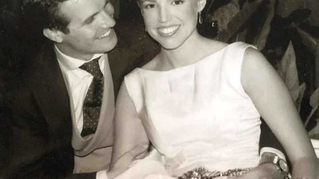 Pablo Casado e Isabel Torres, el día de su boda.