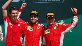 Sebastian Vettel y Kimi Raikkonen en el Gran Premio de Gran Bretaña