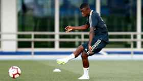 Vinicius en su primer entrenamiento con el Madrid