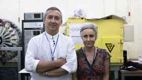 Miguel Ángel Morcillo Alonso y Marta Oteo Vives, investigadores del CIEMAT.