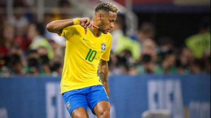 Neymar, en el Mundial con Brasil. Foto: Twitter (@neymarjr)