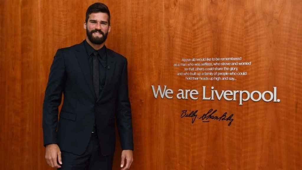 Alisson, nuevo jugador del Liverpool. Foto: Twitter (@LFC).