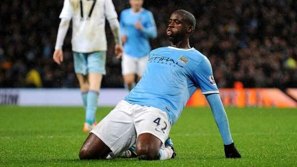 Yaya Touré celebra un gol con el City. Foto: Twitter (@ManCity).