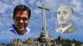 Luis Alfonso de Borbón, la cruz del Valle de los Caídos y Francisco Franco.