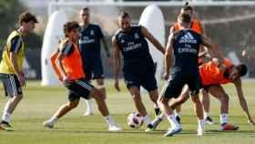 El Real Madrid se ejercita en su quinto día. Foto: realmadrid.com