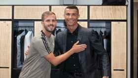 Miralem Pjanic y Cristiano Ronaldo. Foto: Twitter (@juventusfc)