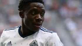 Alphonso Davies, en un partido de la MLS. Foto: Vancouver Whitecaps FC